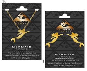 Mermaid Gold Charm Earring & Necklace Set
