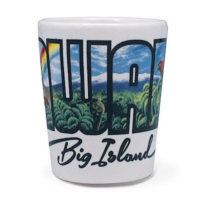 Ceramic Shot Glass, Eddy Y - Hawaii - Big Island