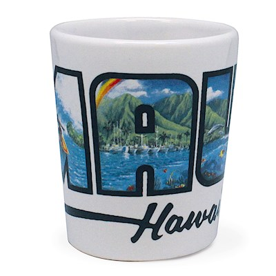 Ceramic Shot Glass, Eddy Y - Maui - Hawaii