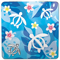 Compact Mirror Honu Floral