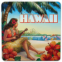 Compact Mirror, Vintage Hawaii