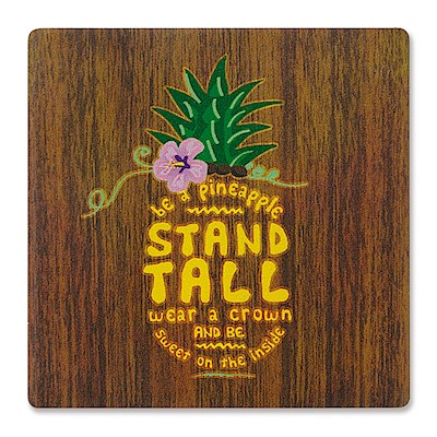 Individual Absorbent Coaster, Be a Pineapple