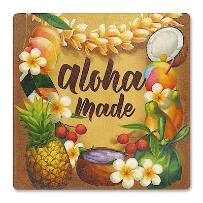 Individual Absorbent Coaster, Aloha Made