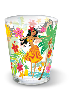 Short Shot Glass, Island Hula Honeys