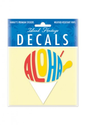 Decal Sticker Aloha Shave Ice