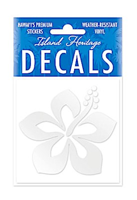 Decal Sticker Graphic Hibiscus Square - SILVER