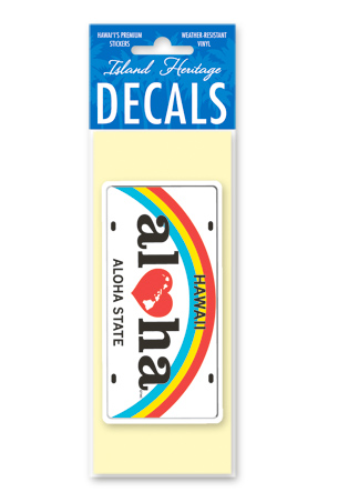 Decal Small Banner, Aloha License Plate