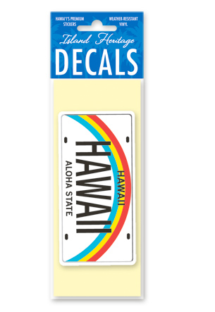 Decal Small Banner, Hawaii License Plate