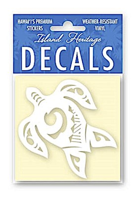 Decal Square, Tribal Honu White