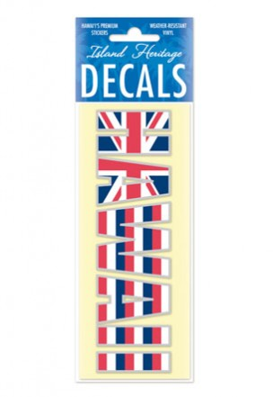 Decal Small Banner, Hawaii Flag Print