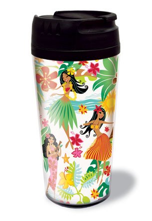 16 oz. Thermal Tumbler, Island Hula Honeys