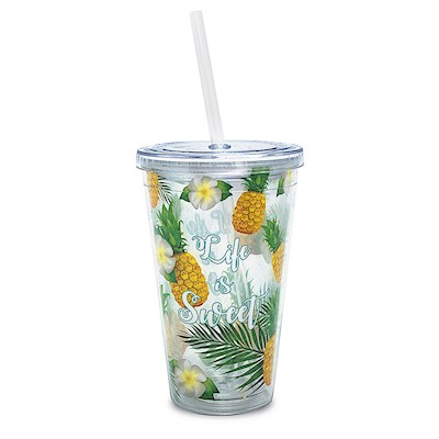 Life is Sweet 16 oz. Travel Tumbler with Straw
