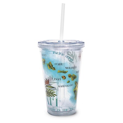 Map 16 oz. Travel Tumbler with Straw