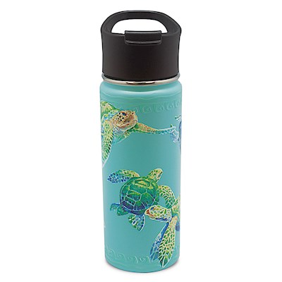 18.6 oz. Island Flask, Swimming Honu - Teal