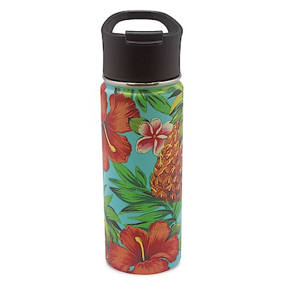 18.6 oz. Island Flask, Tropical Pineapple - Teal