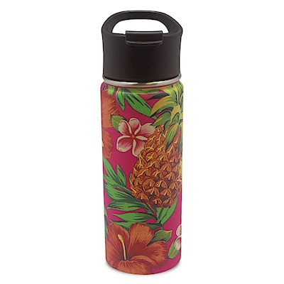 18.6 oz. Island Flask, Tropical Pineapple - Pink