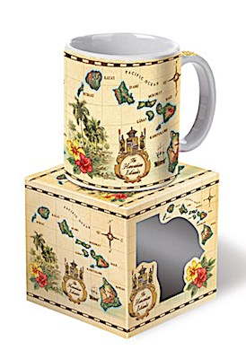10 oz. Boxed Mug Islands of Hawaii - TAN