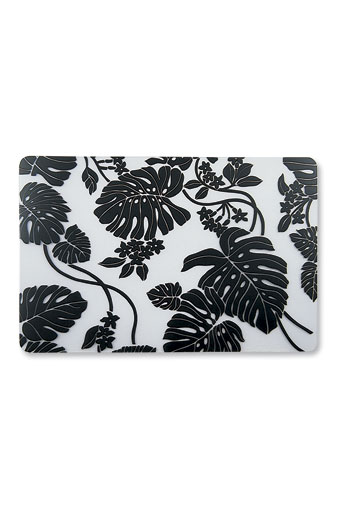 Translucent Placemat Monstera - Black