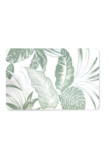 Translucent Placemat Tropical Garden Mislabeled as Tropical Garden - Sage