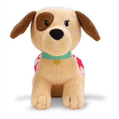 Keiki Kuddles Plush,- Peekaboo the Poi Dog -