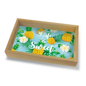 Coastal Wood Tray Small, Life Is Sweet
