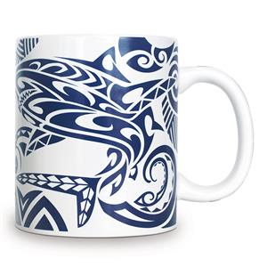 14 oz. Mug Tribal Shark Blue