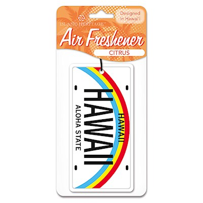 Air Freshener Hawaii License Plate - Citrus scent
