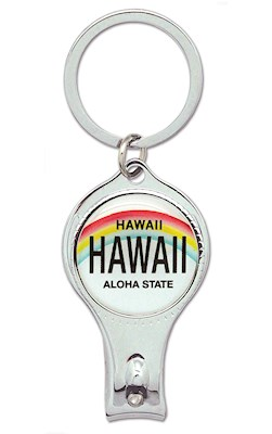 Nail Clipper Keychain, License Plate - Hawaii