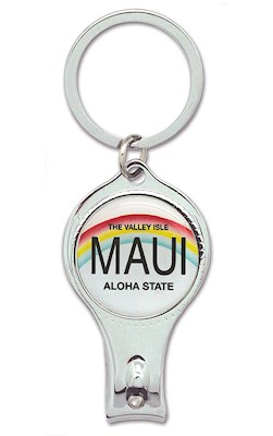 Nail Clipper Keychain, License Plate - Maui