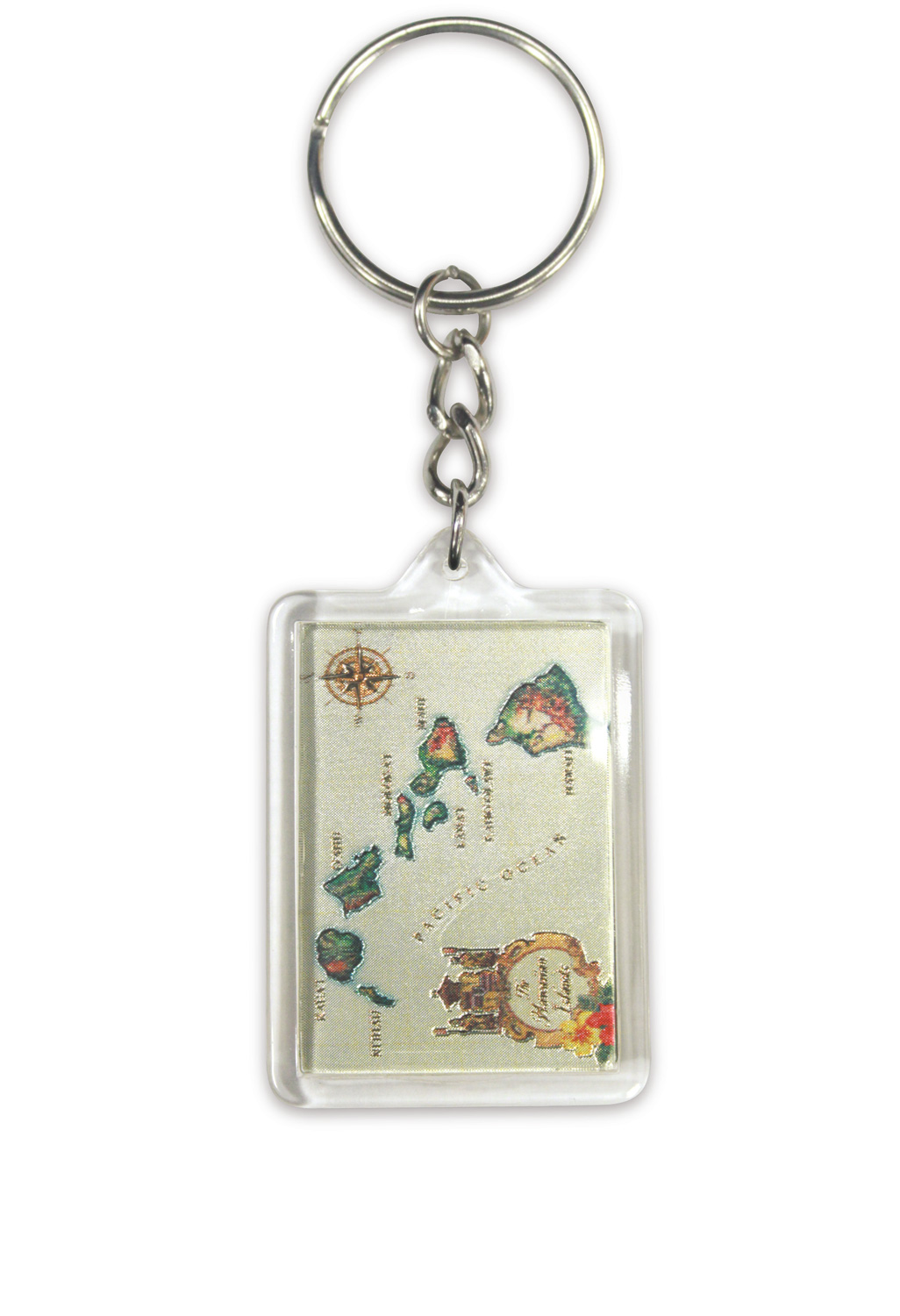 Die Cut Foil Keychain - Islands of Hawaii Tan