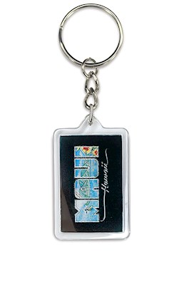 Acrylic Foil Keychain, Eddy Y - Maui Hawaii (Rectangle)