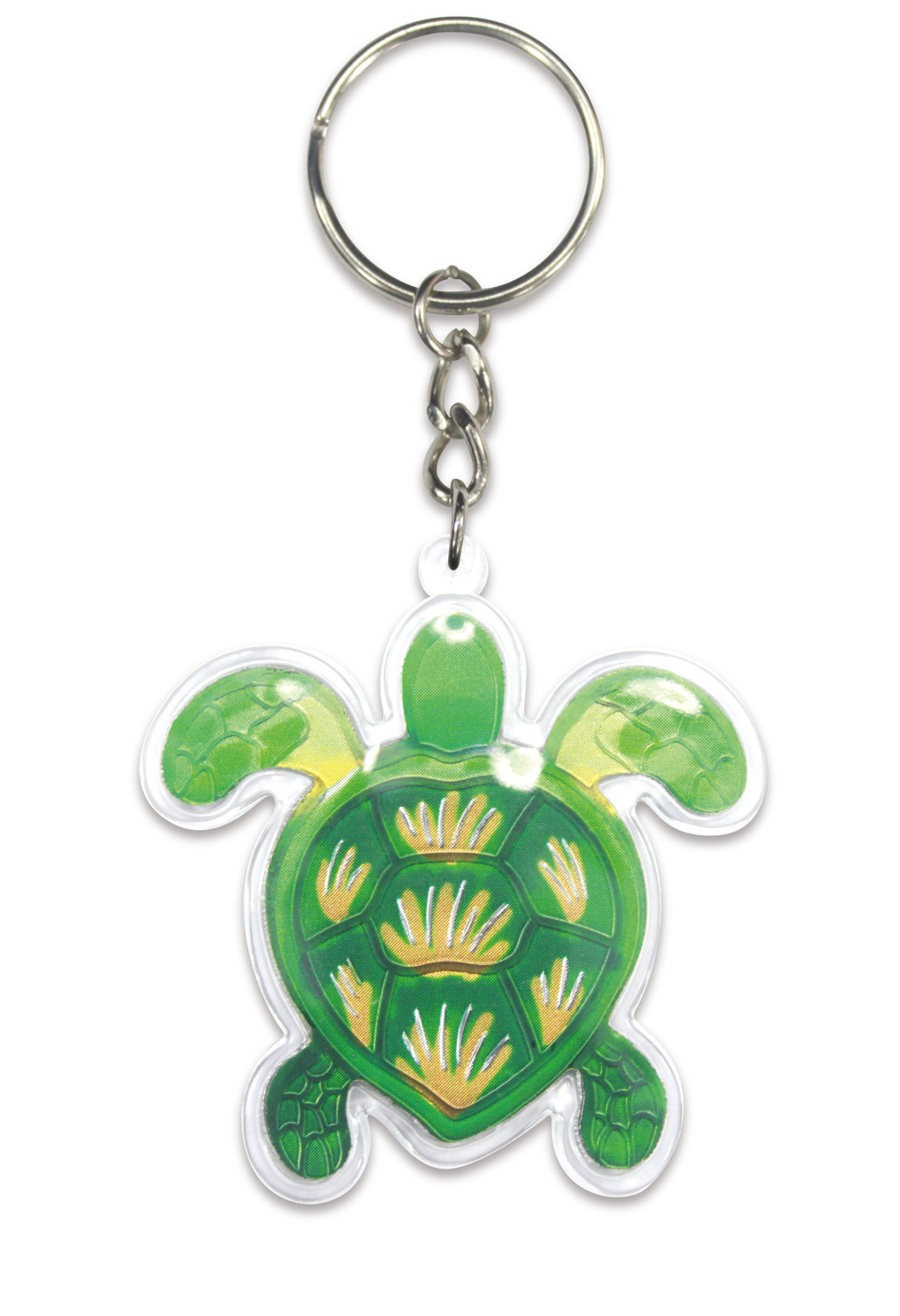 Acrylic Foil Keychain, Swimming Honu (Turtle) *