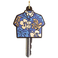 Key Cover, Aloha Shirt - Blue