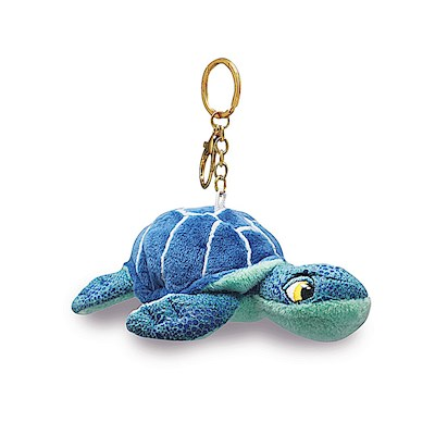 Plush Keychain, Honu - Blue