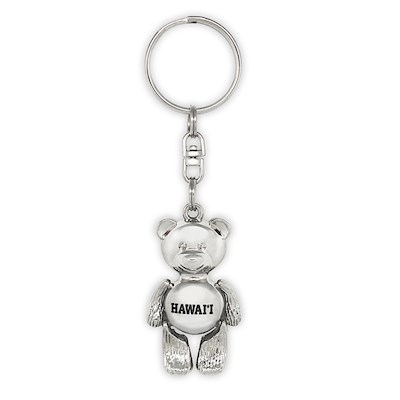 Island Motion Keychain, Bear - Hawaii *