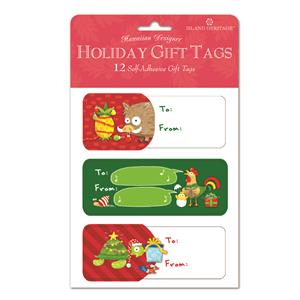 Adhesive Gift Tag 12-pk, Festive Friends