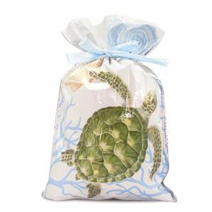 Small Honu Voyage Foil Everyday Drawstring Gift Bag