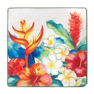 Cotton Linen 18x18 Cover, Heliconia