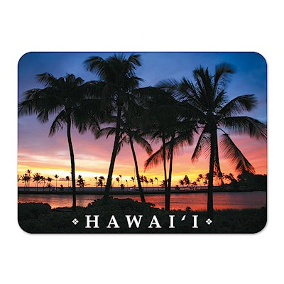 Die-Cut Tin Picture Magnet, Sunset