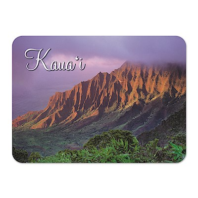 Die-Cut Tin Picture Magnet, Kalalau Valley - Kaua'i