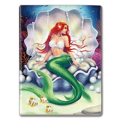 Rectangular Ceramic Magnet, IH Mermaids - Pearl *