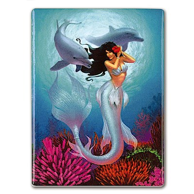 Rectangular Ceramic Magnet, IH Mermaids - Jewel