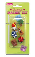HP Polyresin Mini Magnets 6-pk, Hawaii Icons *