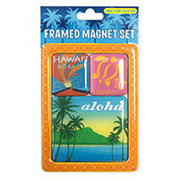 Framed Magnet Set 3-pk, Hawaii Collection *