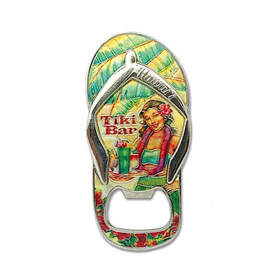 Bottle OpenerFoilEmb Magnet,Slipper Tiki Slipper