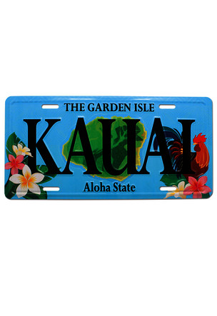License Plate Rooster Kauai