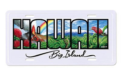 License Plate, Eddy Y, Hawaii - Big Island