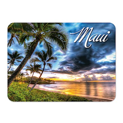 Die-Cut Tin Picture Magnet, Maluaka Beach - Maui