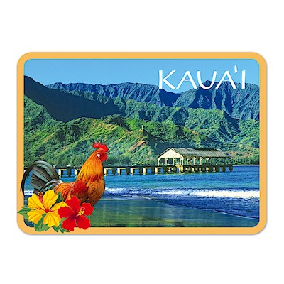 Die-Cut Tin Picture Magnet, Hanalei