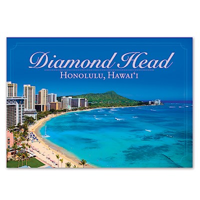 Diamond Head 4 X 6 O'ahu Postcard